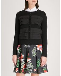 Claudie Pierlot Black Tiered-trim Cotton Cardigan