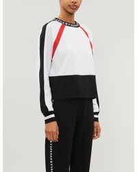 DKNY White Downtown Logo-embroidered Jersey Pyjama Top