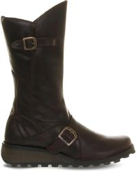 Fly London | Brown Mes Leather Calf Boot | Lyst