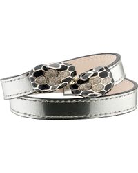 BVLGARI | Metallic Serpenti Double-head Leather Bracelet | Lyst