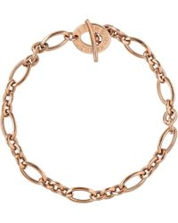 Links of London - Metallic Signature 18ct Rose Gold Charm Bracelet - Lyst