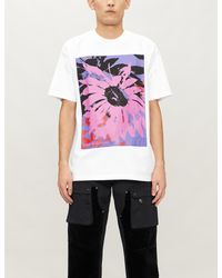 Obey White Graphic-print Cotton-jersey T-shirt for men