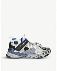 Vetements Gray X Reebok Instapump Fury Leather Trainers for men