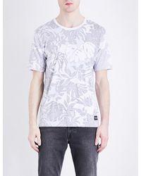 Levi's White Line 8 Wilderness-print Cotton-jersey T-shirt for men
