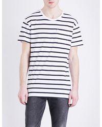Levi's White Line 8 Stripe-print Cotton-jersey T-shirt for men