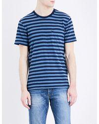 Levi's Blue Sunset Striped Cotton-jersey T-shirt for men
