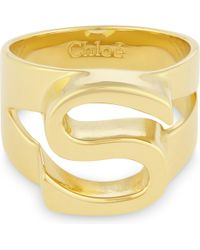 Chloé | Metallic Alphabet S Ring | Lyst