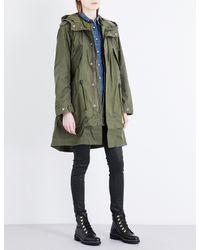 DIESEL Multicolor W-terry Cotton-blend Parka Coat