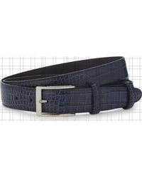 Elliot Rhodes Black Caribe Crocodile-effect Leather Belt for men