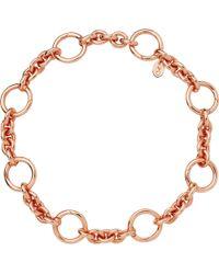 Links of London - Metallic Capture 18ct Rose-gold Vermeil Bracelet - Lyst