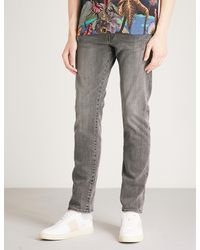 Paul Smith Gray Slim-fit Tapered Jeans for men