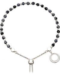 Astley Clarke - Metallic Thundercloud Sterling Silver, Obsidian And Sapphire Kula Bracelet - Lyst