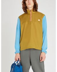 Acne Green Osric Colour-blocked Shell Jacket for men