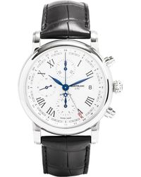 Montblanc   Metallic 107113 Star Stainless Steel And Leather Watch for Men   Lyst