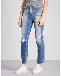 AG Jeans - Blue Ladies Phoebe Slim-fit High-rise Jeans - Lyst