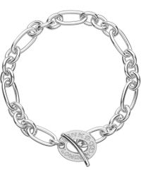 Links of London | Metallic Signature Sterling Silver Charm Bracelet | Lyst