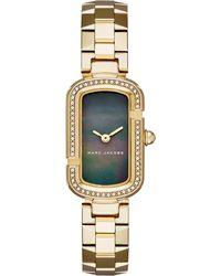 Marc Jacobs Metallic Jacobs Jewel-encrusted Gold Watch