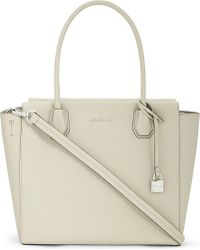 MICHAEL Michael Kors | Natural Mercer Large Leather Tote | Lyst