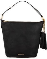 MICHAEL Michael Kors Black Elana Large Convertible Leather Shoulder Bag