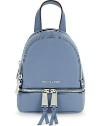 MICHAEL Michael Kors   Blue Rhea Extra-small Grained Leather Backpack   Lyst