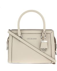 MICHAEL Michael Kors Gray Petite Collins Small Leather Satchel