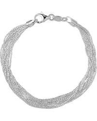 Links of London - Metallic Silk 10 Row Sterling Silver Multi-chain Bracelet - Lyst