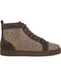 Christian Louboutin Multicolor Louis Flat Pave/strass
