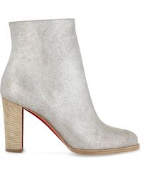 Christian Louboutin Gray Adox 85 Kid Lame Washed/cuoio Heel