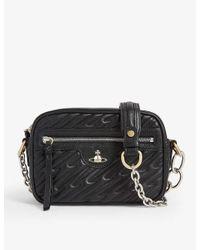 Vivienne Westwood Black Coventry Matelasse Leather Camera Bag