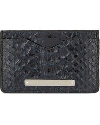 Alexander McQueen Black Varnished Python Card Holder for men