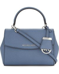 MICHAEL Michael Kors | Blue Petite Ava Extra-small Saffiano Leather Cross-body Bag | Lyst