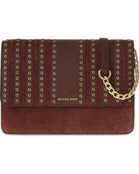 MICHAEL Michael Kors Brown Brooklyn Large Leather & Suede Cross-body Bag