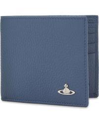 Vivienne Westwood - Blue Milano Grained Leather Billfold Wallet for Men - Lyst