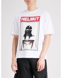 Helmut Lang White Hans Tall Cotton-jersey T-shirt for men
