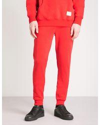 Criminal Damage Red Hiber Cotton-fleece Jogging Bottoms for men