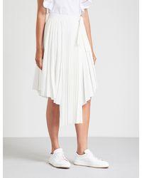 Maje White Jaxy Crepe Skirt