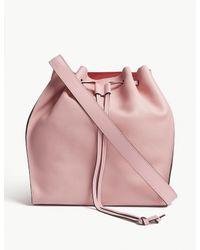 J.W. Anderson - Pink Drawstring Leather Shoulder Bag - Lyst
