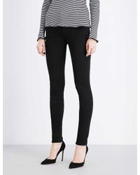 J Brand Ladies Black Cotton Star 485 Luxe Sateen Super-skinny Mid-rise Jeans