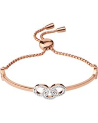 Links of London - Black Signature 18ct Rose Gold And Sapphire Bracelet - Lyst