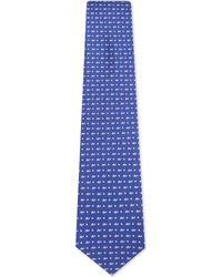 Ferragamo | Blue Micro Turtle Silk Tie for Men | Lyst