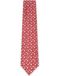 Ferragamo | Red Windsurfing Teddy Bear Silk Tie for Men | Lyst