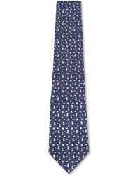 Ferragamo | Blue Penguin On Ice Silk Tie for Men | Lyst