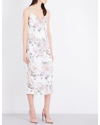 TOPSHOP Multicolor Floral-print Satin Dress