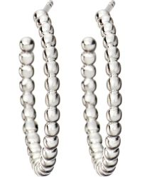 Astley Clarke - Metallic Beaded Sterling Silver Hoop Earrings - Lyst