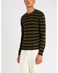 Corneliani Multicolor Striped Cashmere And Silk-blend Top for men