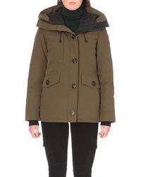 Canada Goose | Green Rideau Padded Parka Jacket | Lyst