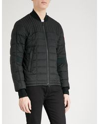 Canada Goose Black Dunham Down-filled Quilted Shell Jacket for men
