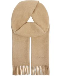 Burberry | Natural Plain Cashmere Scarf | Lyst