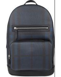 Burberry Black Marden Checked Backpack for men