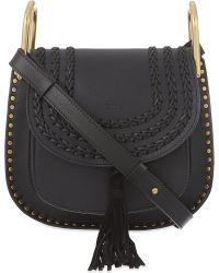 Chloé | Black Hudson Small Leather Shoulder Bag | Lyst